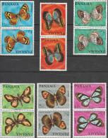 """PANAMA 1056-61 In Kehrdruckpaaren !!!! """"Schmetterlinge"""" MNH / ** / Postfrisch - Panama"""