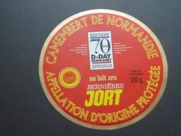étiquette Fromage Neuve : Camembert Bernières Jort  édition 70 Ans D-DAY Normandy  Spéciale Anniversaire Débarquement - Cheese