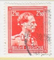 BELGIUM  291    (o) - Perfins