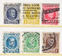 BELGIUM  185-90    (o) - 1922-1927 Houyoux