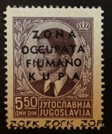 Italie Occupation De Fiume & Kupa , YT 8 Neuf ** SANS Charn (1941) , Cote En * 5 €