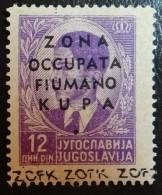 Italie Occupation De Fiume & Kupa , YT 11 Neuf ** SANS Charn (1941) , Cote En * 250 €