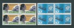 Nauru 1968 Independence Pair Blocks Of 4 MNH - Nauru