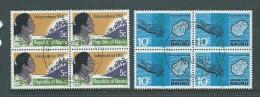 Nauru 1968 Independence Pair Blocks Of 4 FU - Nauru