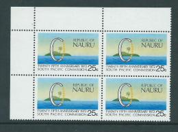 Nauru 1972 South Pacific Commission Block Of 4 MNH - Nauru