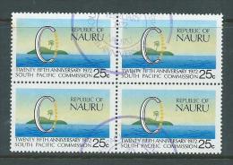 Nauru 1972 South Pacific Commission Block Of 4 FU - Nauru