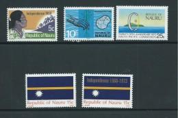Nauru 1968 Independence 1969 Flag 1972 SPC 1973 Overprint Sets MNH - Nauru