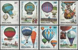 "RUANDA 1267-74 ""200 Jahre Luftfahrt"" MNH / ** / Postfrisch - Ruanda"