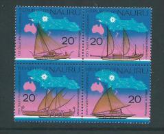Nauru 1975 South Pacific Conference Sail Boat Set Of 4 In Block Format MNH - Nauru
