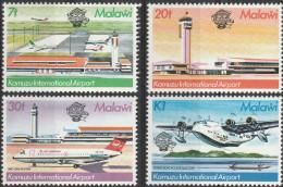 """MALAWI 401-4 """"200 Jahre Luftfahrt,Kamuzu International Airport"""" MNH / ** / Postfrisch - Malawi (1964-...)"""