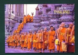 THAILAND  -  Bangkok  Tak-Bat-Devo  Buddist Rite  Unused Postcard - Thailand