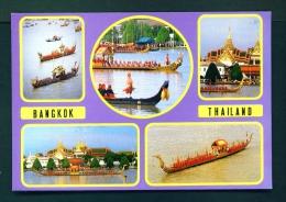 THAILAND  -  Bangkok  Royal Barge  Multi View  Unused Postcard - Thailand
