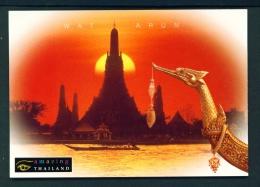 THAILAND  -  Bangkok  Wat Arun  Temple Of Dawn  Unused Postcard - Thailand