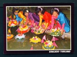 THAILAND  -  Bangkok  Loy Krathong  Unused Postcard - Thailand