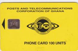 Ghana, GHA-D-03 / 08.95, Small Logo, Yellow, 2 Scans. - Ghana