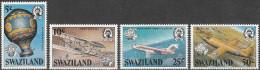 """SWAZILAND 432-5 """"200 Jahre Luftfahrt"""" MNH / ** / Postfrisch - Swaziland (1968-...)"""