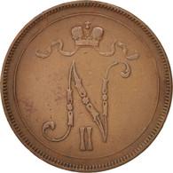 Finlande, Nicolas II, 10 Pennia, 1897, Cuivre, KM:14 - Finlande
