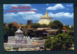 THAILAND  -  Bangkok  Pom Maha Karn And The Golden Mount  Unused Postcard - Thailand