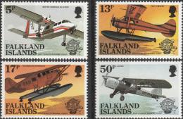 """FALKLAND-Inseln 386-9 """"200 Jahre Luftfahrt"""" MNH / ** / Postfrisch - Falklandinseln"""