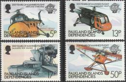 """FALKLAND-Inseln Dependences 117-20 """"200 Jahre Luftfahrt"""" MNH / ** / Postfrisch - Falklandinseln"""
