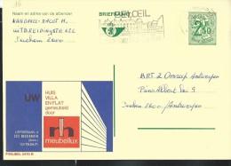 Publibel Obl. N° 2470 ( Meubles MEUBELLUX In Massenhoven) Obl: Antwerpen + Flamme Pour Beloeil - Stamped Stationery