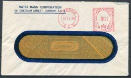 1939 GB London Swiss Bank Corporation Cover - 1902-1951 (Kings)