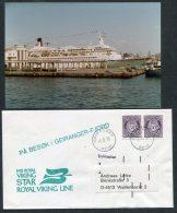 1978 Norway Geiranger M/S Royal Viking Star Ship Cover + Photo - Norway