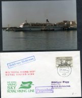 1977 Norway Kiel Germany Paquebot M/S Royal Viking Sky Ship Cover + Photo - Norway