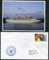 1994 Bahamas M/S Crown Odyssey Nassau Ship Cove Paquebot Helsinki Finland + Postcard - Bahamas (1973-...)