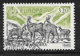 Andorra, French, Scott # 345 Used Europa, Isard, 1986