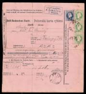 Austria 1880. 10 Kr Money Recovery Order Supplemented 3 Pieces 3Kr PRAG Used - Briefe U. Dokumente