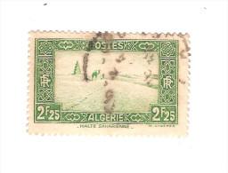 RARE // ALGERIE  1936/1937  YT N° 121 - Faciale 2.25 Francs / Oblitéré Cote Inconnue Estimée à 15 Euros - Algérie (1924-1962)