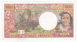 Polynésie Française - 1000 FCFP - D.016 / Signatures Pouilleute/Ferman/Beugnot - SUP - Papeete (French Polynesia 1914-1985)