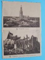 Puinen Kerk En Stadhuis / Panorama / Anno 19?? ( Zie Foto Voor Details ) !! - Hoogstraten