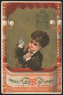 Chromo DELACRE (extrait De Viande De Bœuf) - Jeune Homme Au Théatre - Trade Cards