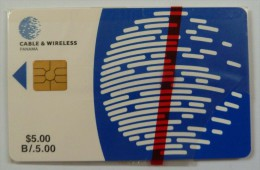 PANAMA - 1st Issue - Chip - $5 - Cable & Wireless - Mint Blister - Panama
