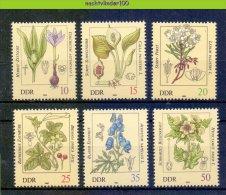 Mdl043 FLORA BLOEMEN GIFTIGE PLANTEN TOXIC PLANTS FLOWERS BLUMEN FLEURS FLORES DDR 1982 PF/MNH - Toxic Plants