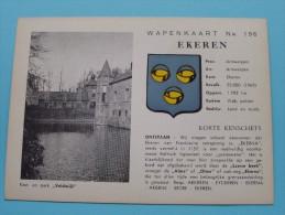 WAPENKAART Nr. 196 Ekeren / Anno 19?? ( Zie Foto Voor Details ) !! - Antwerpen