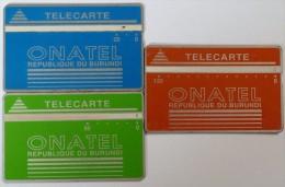 BURUNDI - L&G - 20, 50 & 120 Units - 3 Cards - Used