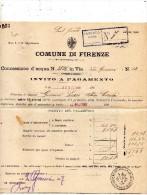 1907 FIRENZE - CONCESSIONE D'ACQUA - Italia