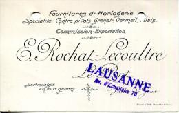 SUISSE.LE PONT.VALLÉE DE JOUX.CARTE VISITE.FOURNITURE D'HORLOGERIE.E.ROCHAT-LECOULTRE. - Old Paper