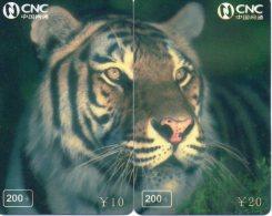 Puzzle Tigre Animal Félin Télécarte  Phonecard  Telefonkarte P56 - Puzzles