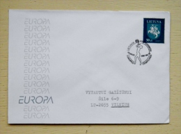 Cover From Lithuania 1997 Vilnius Special Cancel Lithuanian Woman Basketball Team Championship Gold Medal Winner - Lithuania