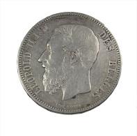 Belgique - 5 Francs - 1873 -  Léopold II - Argent  - TB+ - - 1865-1909: Leopold II