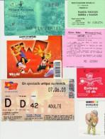 Lot De Divers Tickets D´entrées Parcs D'attractions, Parcs Verts... Voir Détails - Tickets - Vouchers