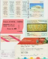 Lot De Divers Tickets D´entrées Sites Musées Etc... Etrangers... Voir Détails - Tickets - Vouchers