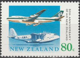 """Neuseeland 1104 """"50 Jahre Fluggesellschaft AIR NEW ZEALAND"""" MNH / ** / Postfrisch - Gebraucht"""