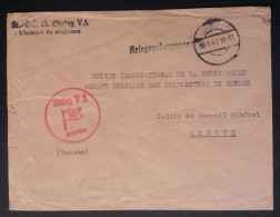 Enveloppe Cachet STALAG V A L'HOMME DE CONFIANCE Pour Croix-Rouge Prisonniers De Guerre Genève 1942 Ludwigsburg - Marcophilie (Lettres)