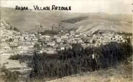 LIBAN RAYAK VILLAGE FIRZOULE CARTE PHOTO ORIGINALE VOYAGEE AVEC CACHET DES ARMEES - Liban