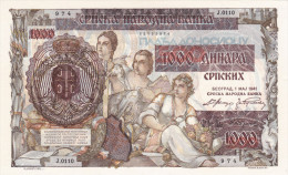 1000 Dinara 1941 ! UNC - Serbie